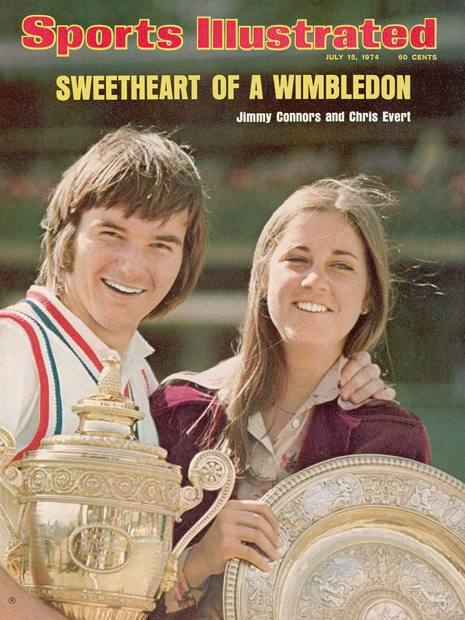 Usa Jimmy Connors And Usa Chris Evert, 1974 Wimbledon Sports Illustrated Cover Photograph by Sports Illustrated