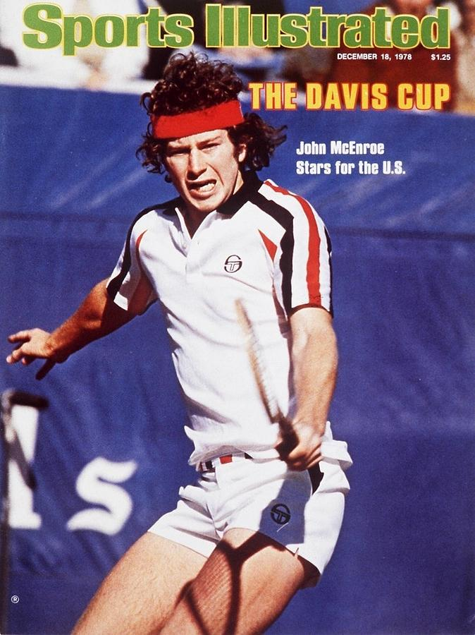 Usa John Mcenroe, 1978 Davis Cup Sports Illustrated Cover Photograph by Sports Illustrated