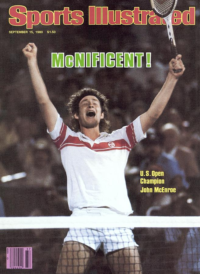 Usa John Mcenroe, 1980 Us Open Sports Illustrated Cover Photograph by Sports Illustrated