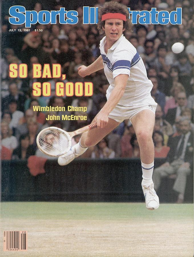 Usa John Mcenroe, 1981 Wimbledon Sports Illustrated Cover Photograph by Sports Illustrated
