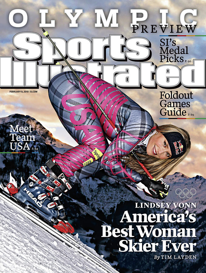 Usa Lindsey Vonn, 2010 Vancouver Olympic Games Preview Issue Sports Illustrated Cover Photograph by Sports Illustrated