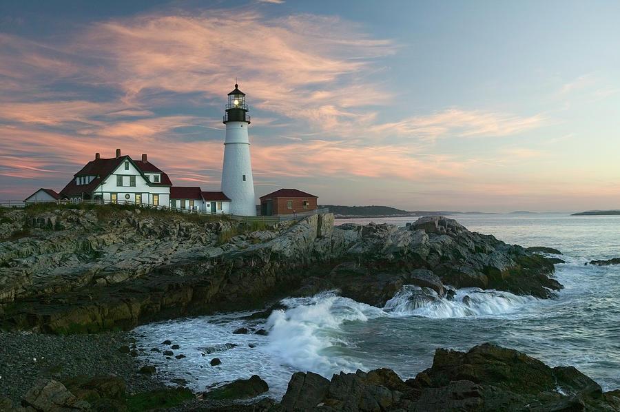 Usa, Maine, Cape Elizabeth, Portland Photograph by Visionsofamerica/joe Sohm