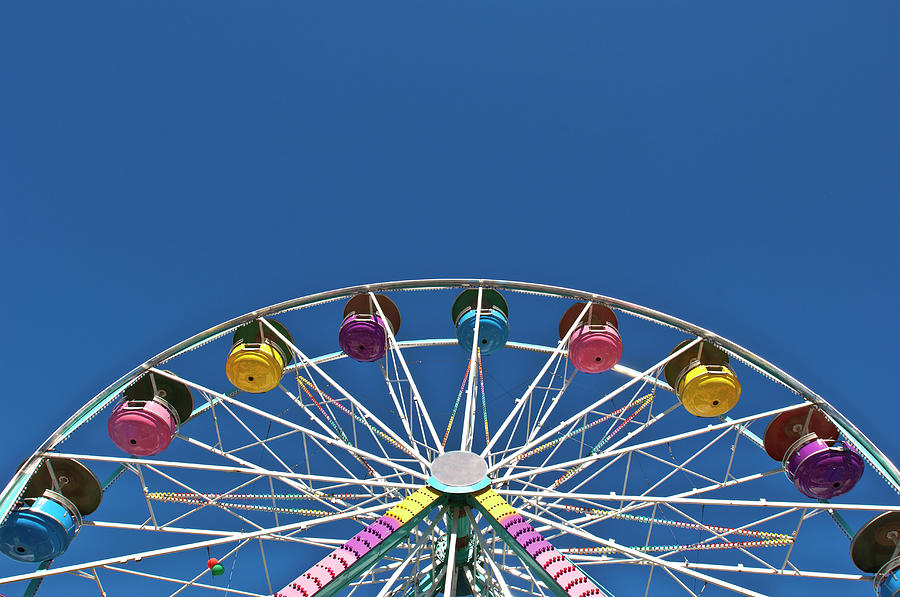 Usa, Maine, Fryeburg, Ferris Wheel Photograph by Win-initiative