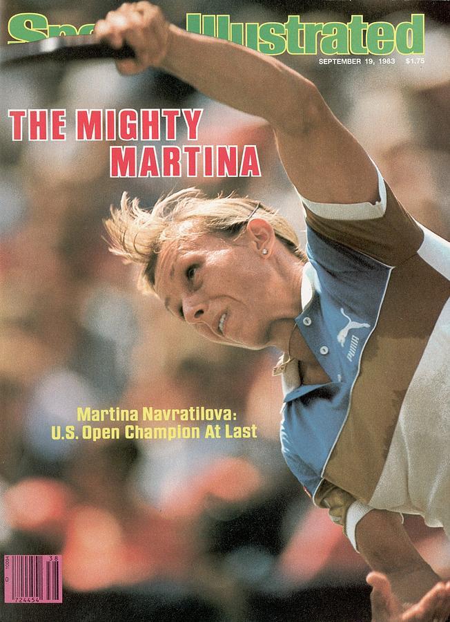Usa Martina Navratilova, 1983 Us Open Sports Illustrated Cover Photograph by Sports Illustrated