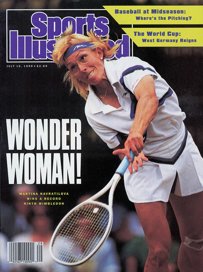 Usa Martina Navratilova, 1990 Wimbledon Sports Illustrated Cover Photograph by Sports Illustrated