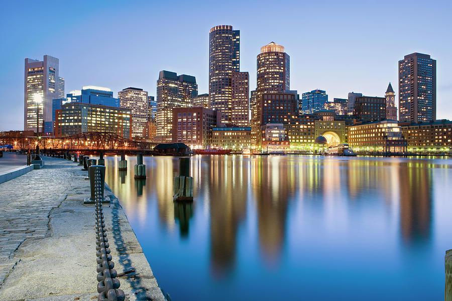 Usa, Massachusetts, Boston, Financial Photograph by Travelpix Ltd