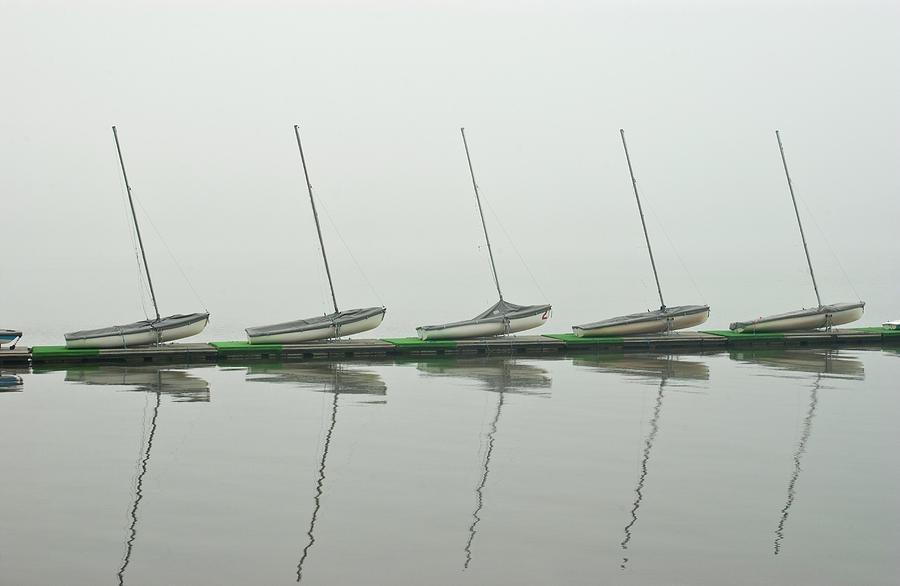 Usa, Massachusetts, Sailboats Docked At Photograph by Win-initiative