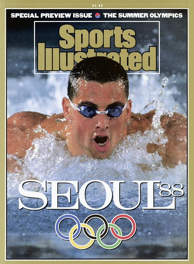 Usa Matt Biondi, 1988 Seoul Olympic Games Preview Sports Illustrated Cover Photograph by Sports Illustrated