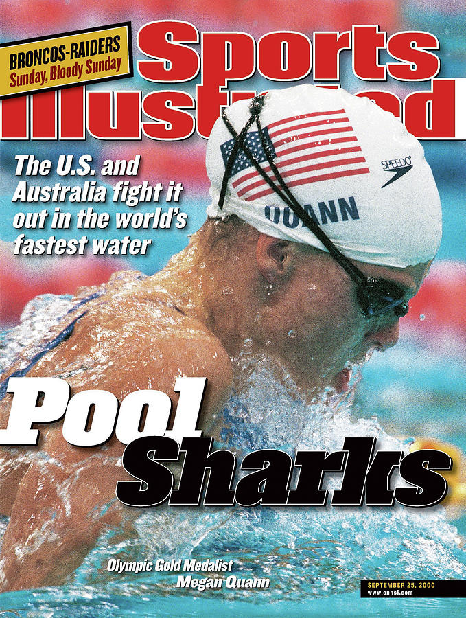 Usa Megan Quann, 2000 Summer Olympics Sports Illustrated Cover Photograph by Sports Illustrated