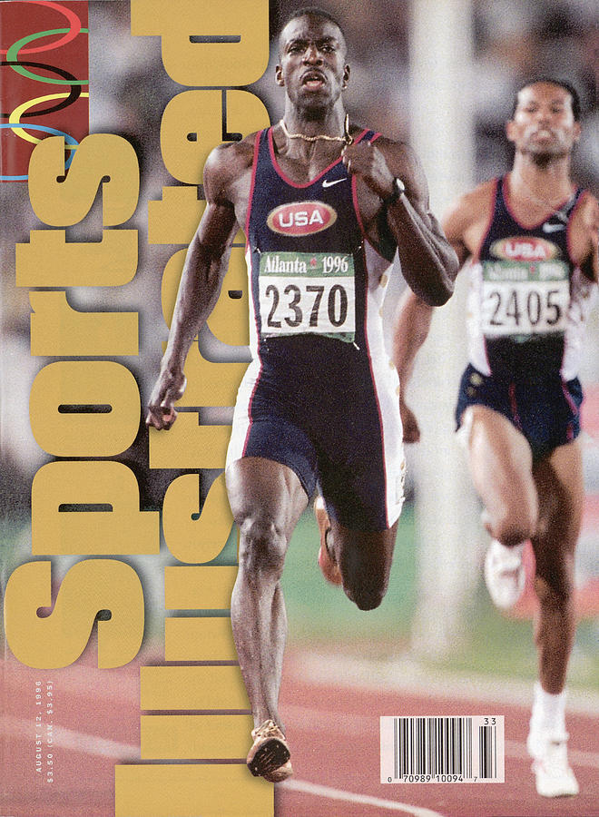Usa Michael Johnson, 1996 Summer Olympics Sports Illustrated Cover Photograph by Sports Illustrated