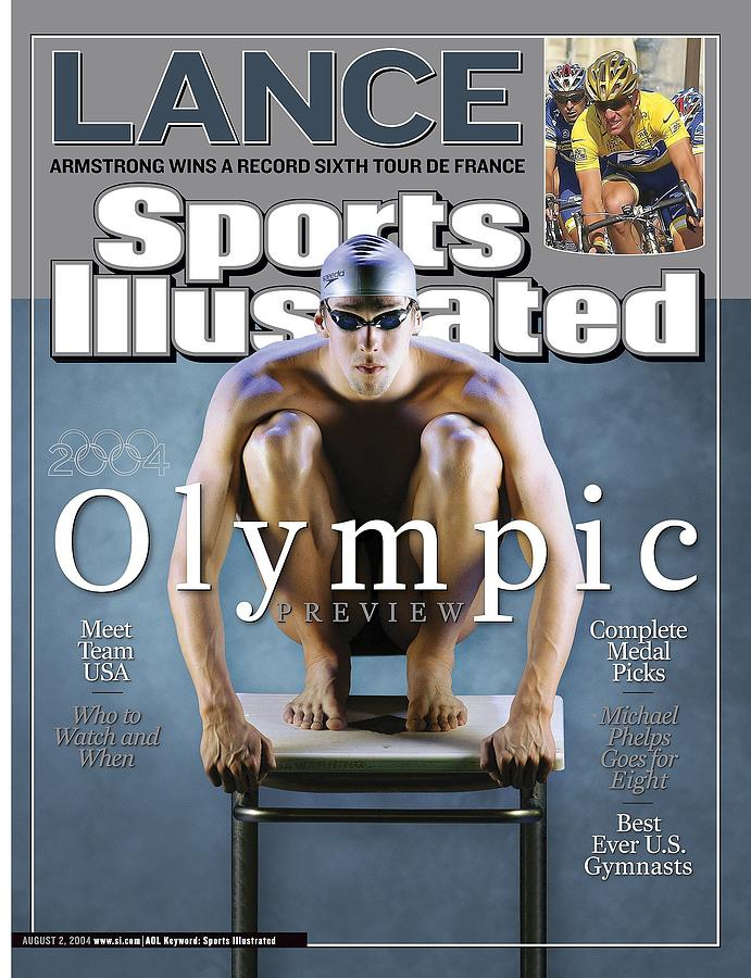 Usa Michael Phelps, 2004 Athens Olympic Games Preview Sports Illustrated Cover Photograph by Sports Illustrated