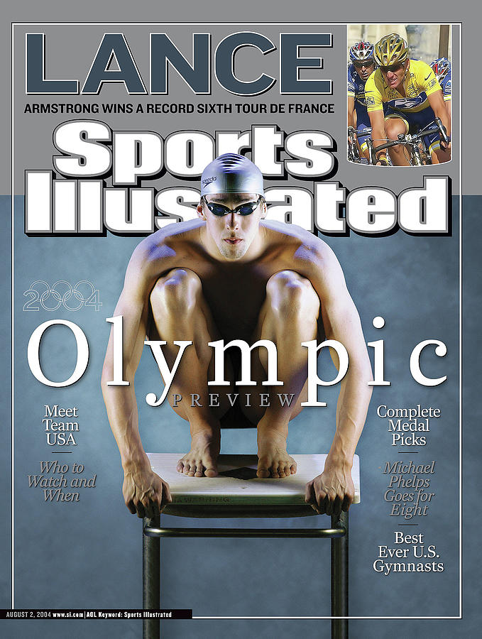 Usa Michael Phelps, 2004 Athens Olympic Games Preview Issue Sports Illustrated Cover Photograph by Sports Illustrated