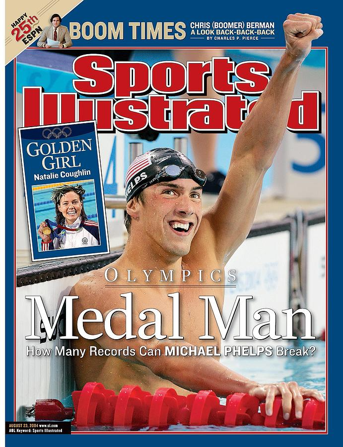 Usa Michael Phelps, 2004 Summer Olympics Sports Illustrated Cover Photograph by Sports Illustrated