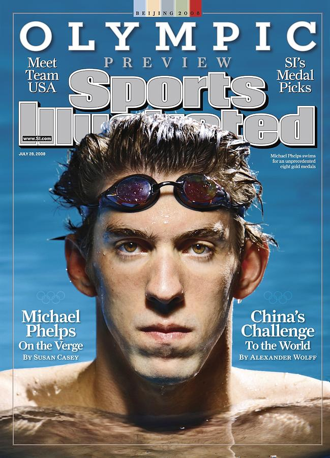 Usa Michael Phelps, 2008 Beijing Olympic Games Preview Sports Illustrated Cover Photograph by Sports Illustrated