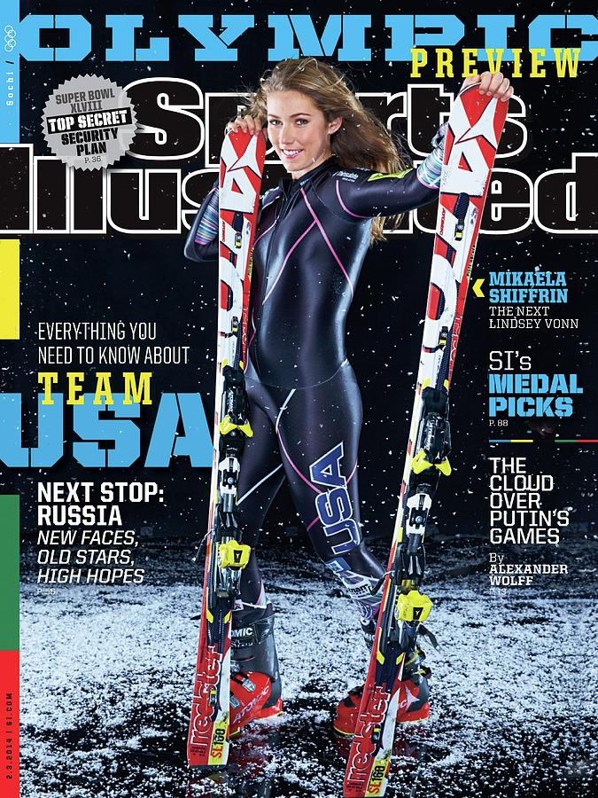 Usa Mikaela Shiffrin, 2014 Sochi Olympic Games Preview Sports Illustrated Cover Photograph by Sports Illustrated