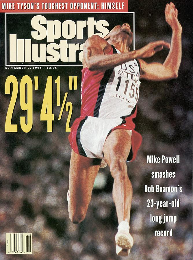 Usa Mike Powell, 1991 Iaaf Athletics World Championships Sports Illustrated Cover Photograph by Sports Illustrated
