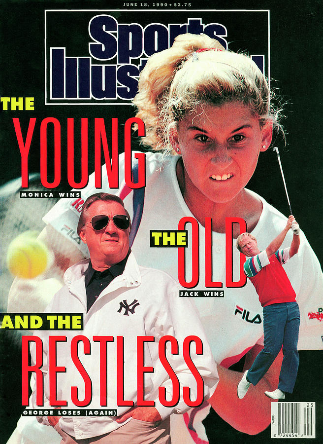 Usa Monica Seles, 1990 French Open Sports Illustrated Cover Photograph by Sports Illustrated