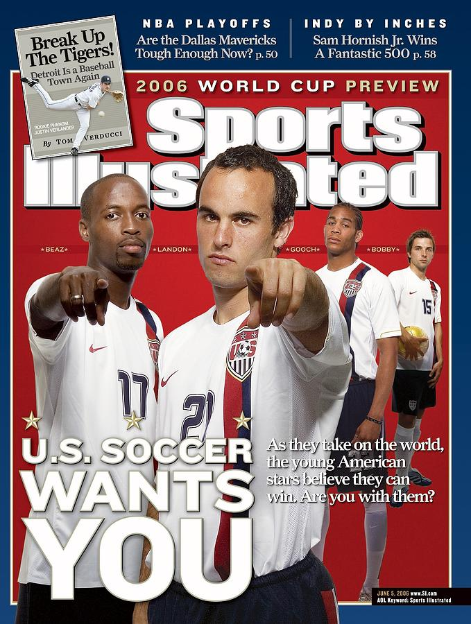 Usa National Soccer Team Damarcus Beasley, Landon Donovan Sports Illustrated Cover Photograph by Sports Illustrated