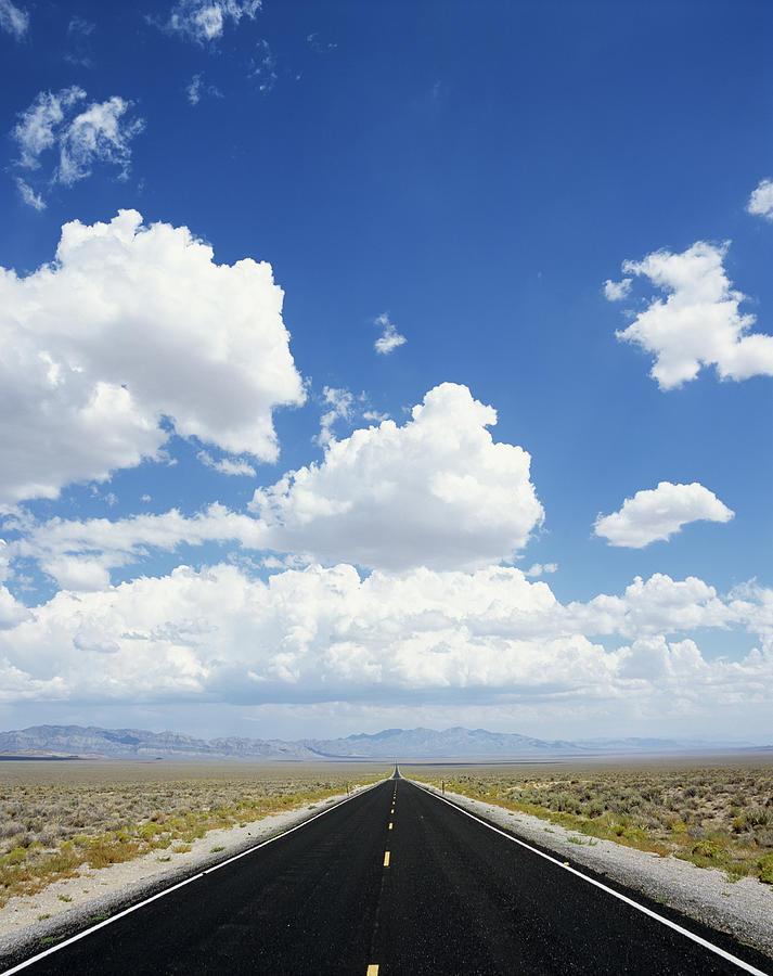 Usa, Nevada, Desert Highway Photograph by Buena Vista Images