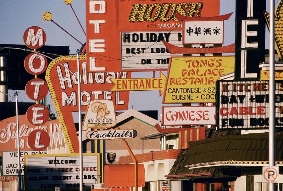 Usa, Nevada, Las Vegas, Motel And Photograph by Jonathan Olley