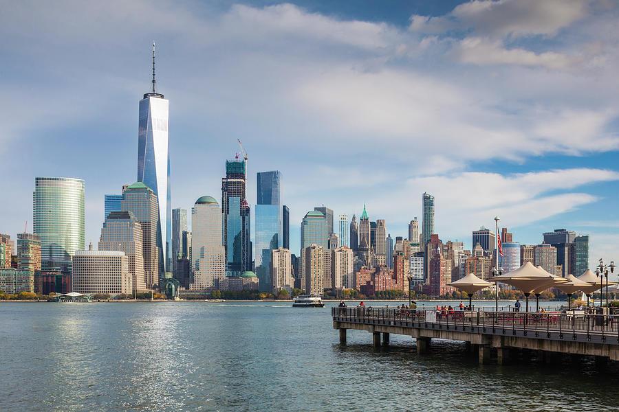 Jersey City Photograph - Usa, New Jersey, Jersey City, Lower by Walter Bibikow