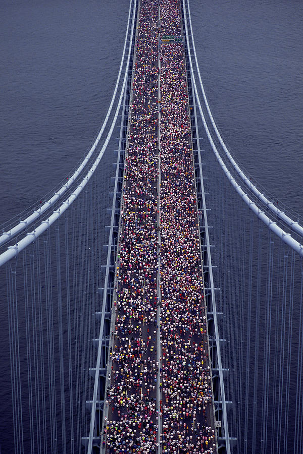 Usa, New York City, Marathon Race Photograph by Joanna Mccarthy
