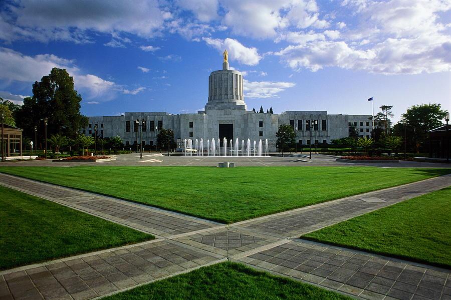 Usa, Oregon, Salem, State Capital Photograph by Jim Corwin
