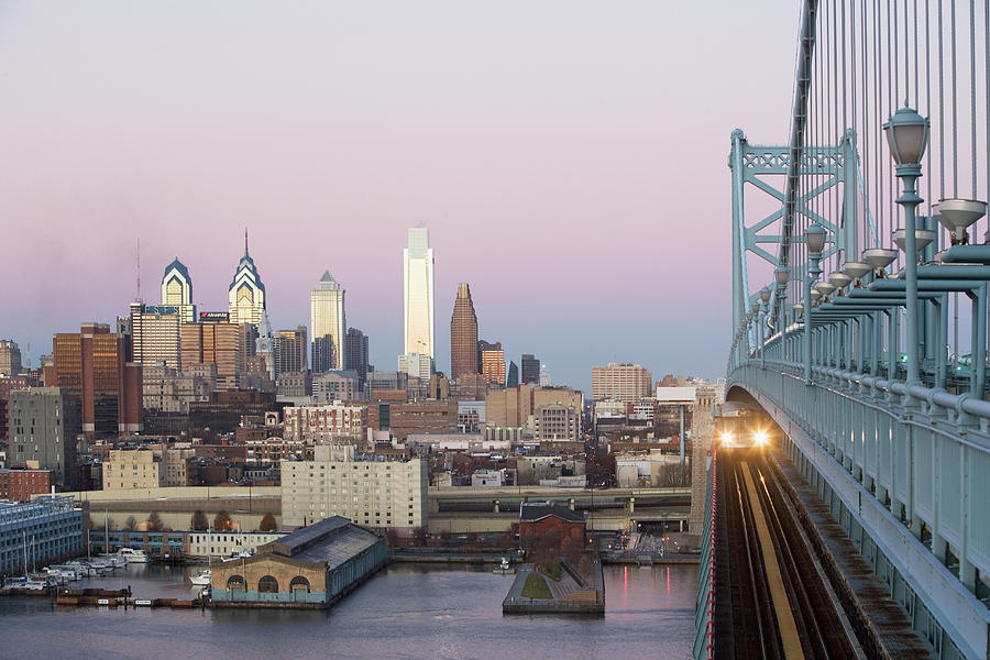 Financial District Photograph - Usa, Pennsylvania, Philadelphia, View by Fotog