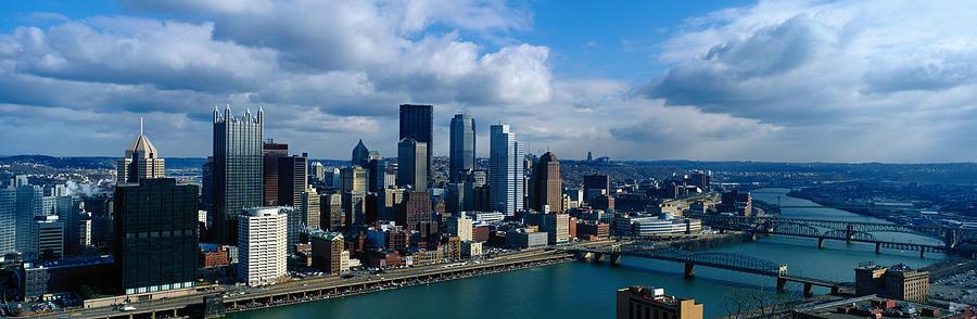 Usa, Pennsylvania, Pittsburgh, Skyline Photograph by Jeremy Woodhouse