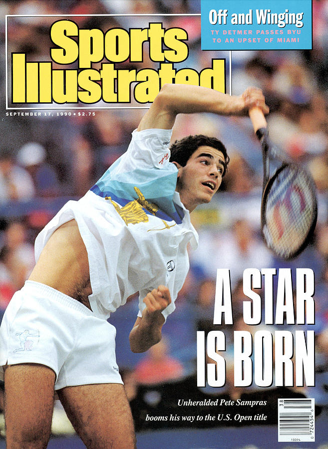 Usa Pete Sampras, 1990 Us Open Sports Illustrated Cover Photograph by Sports Illustrated
