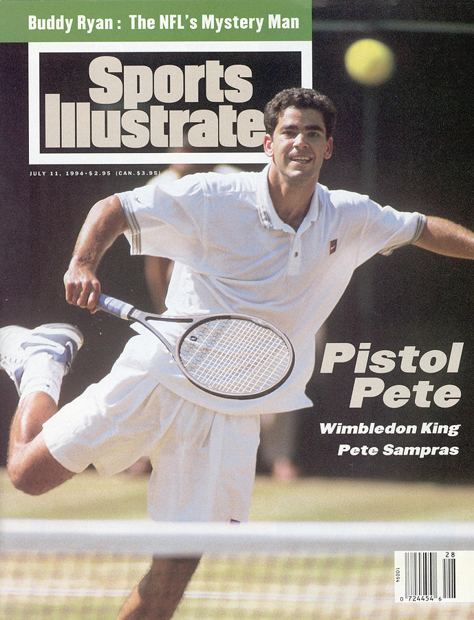 Usa Pete Sampras, 1994 Wimbledon Sports Illustrated Cover Photograph by Sports Illustrated