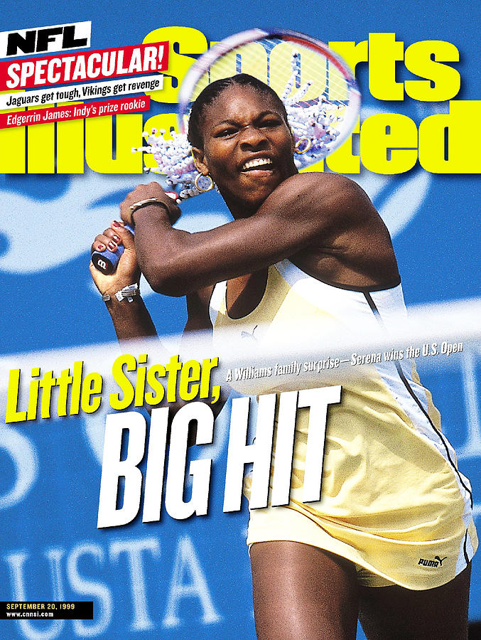Usa Serena Williams, 1999 Us Open Sports Illustrated Cover Photograph by Sports Illustrated