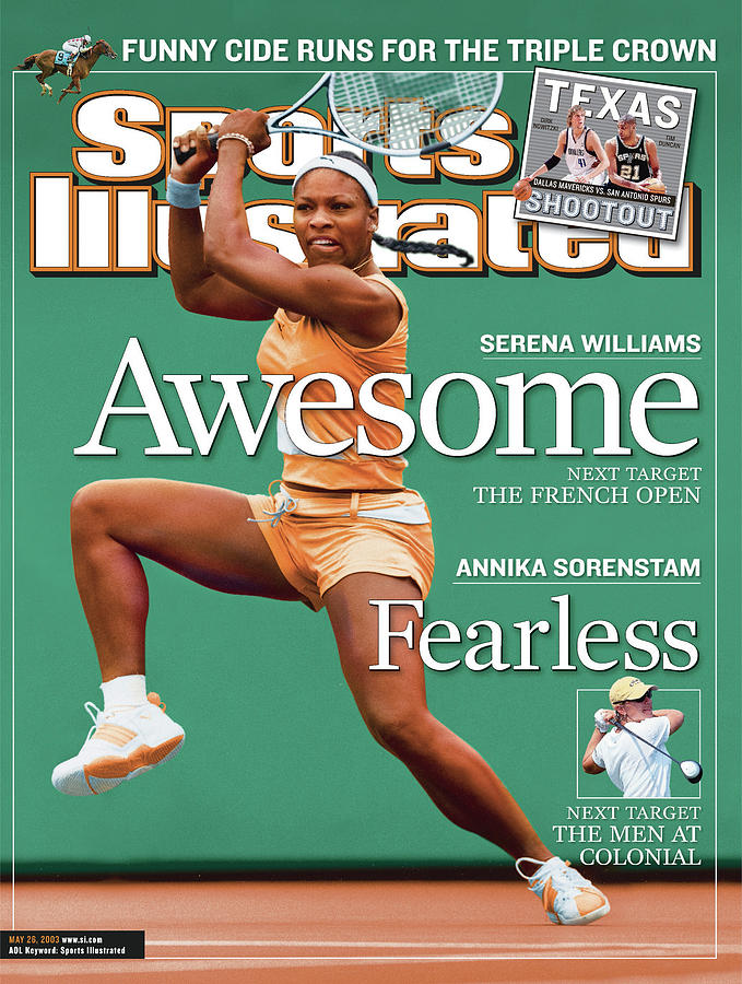 Usa Serena Williams, 2003 State Farm Womens Tennis Classic Sports Illustrated Cover Photograph by Sports Illustrated