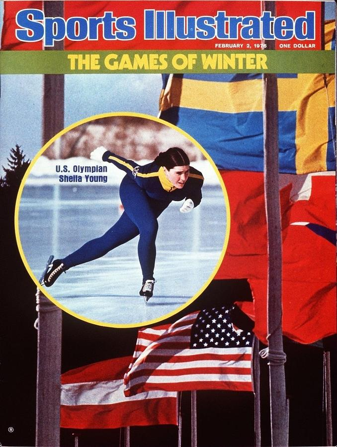 Usa Sheila Young, 1976 Innsbruck Olympic Games Preview Sports Illustrated Cover Photograph by Sports Illustrated