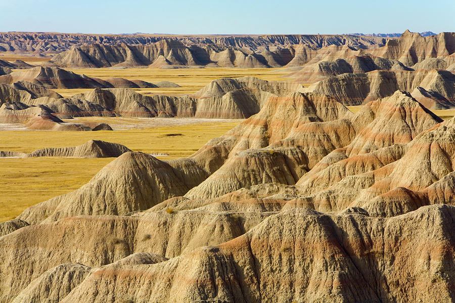 Usa, South Dakota, Badlands Np, Eroded Photograph by Eastcott Momatiuk