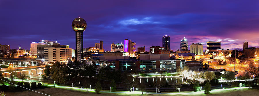 Usa, Tennessee, Knoxville, Skyline At Photograph by Henryk Sadura