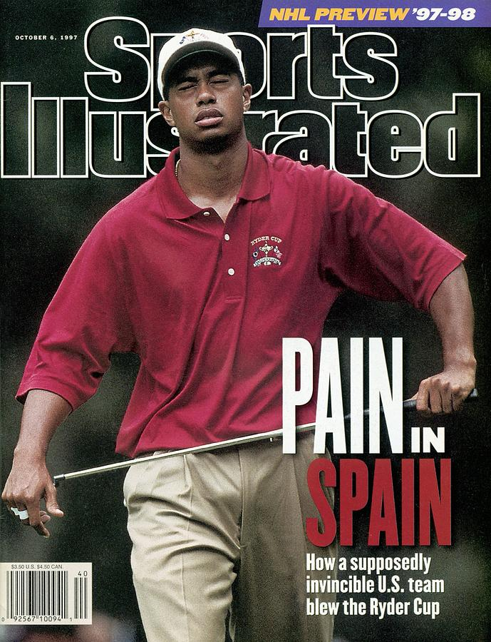 Usa Tiger Woods, 1997 Ryder Cup Sports Illustrated Cover Photograph by Sports Illustrated