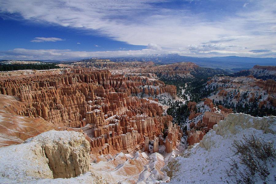 Usa, Utah, Winter Bryce Canyon Photograph by Stan Osolinski