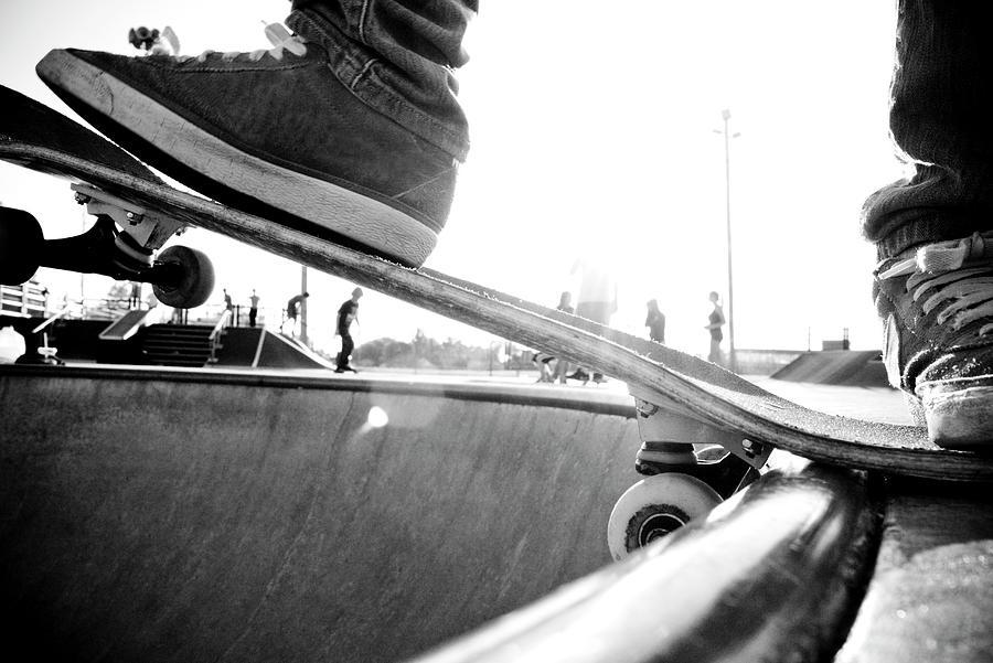 Usa, Wisconsin, Skateboarder In Skate Photograph by Win-initiative