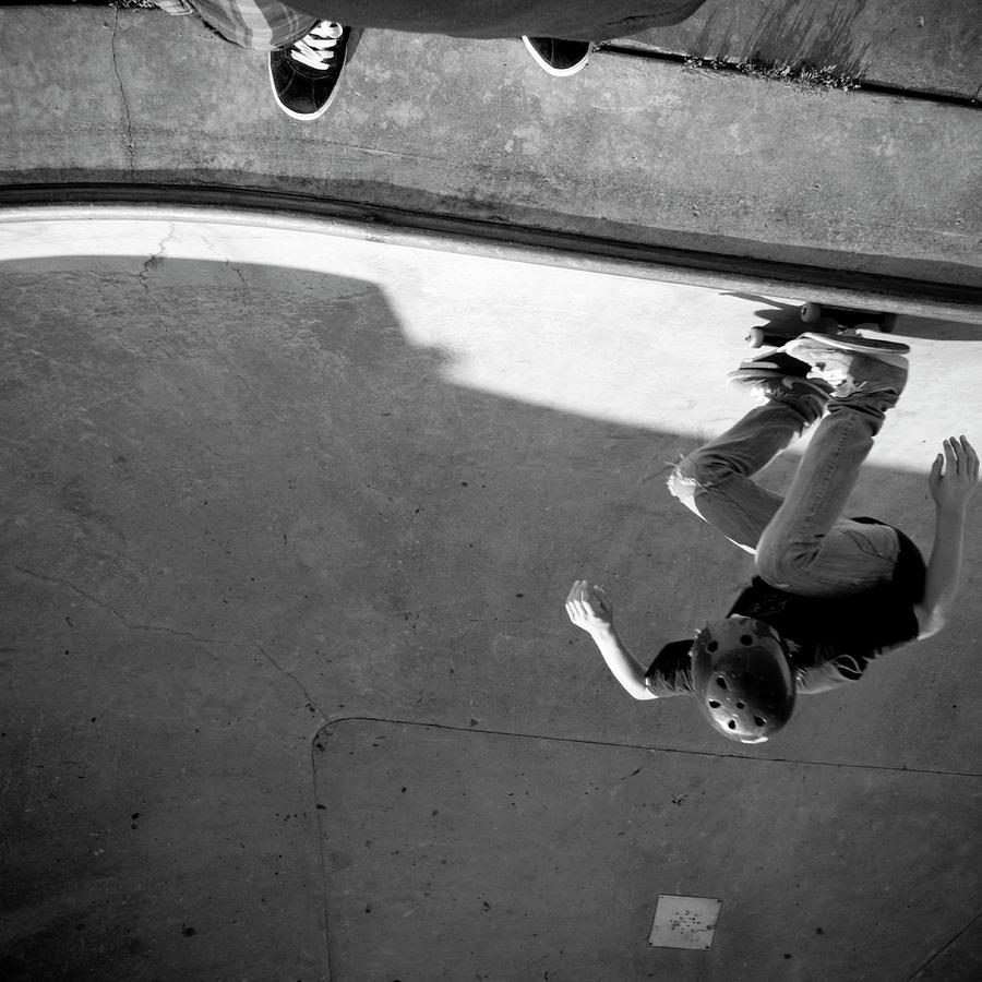 Usa, Wisconsin, Skateboarders In Skate Photograph by Win-initiative