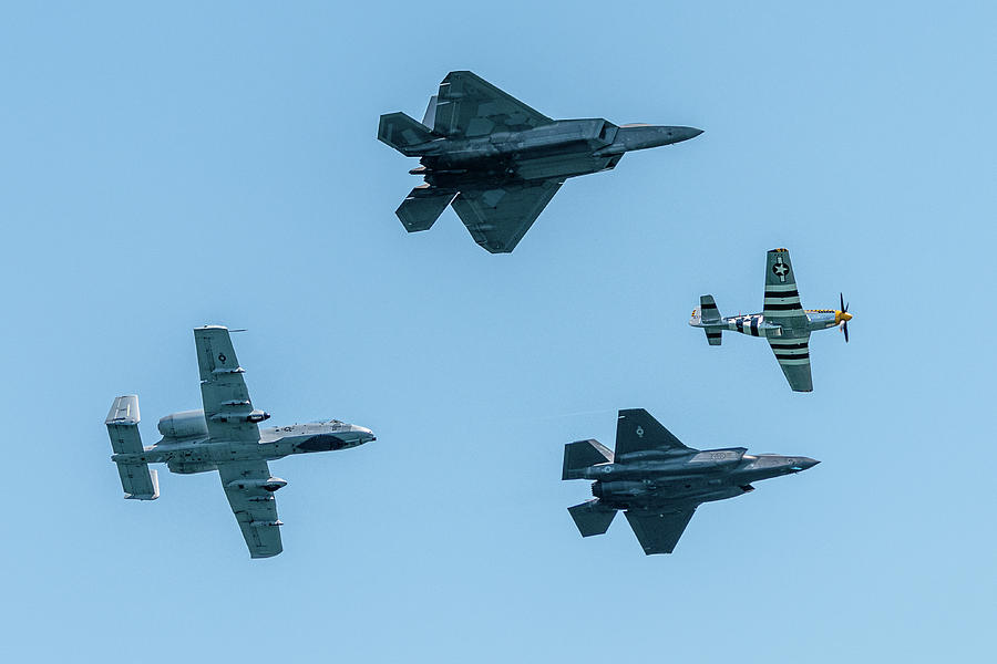 USAF Heritage Flight Formation by Randy Scherkenbach