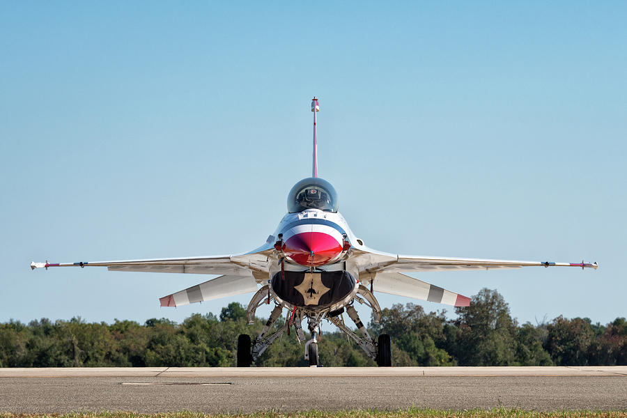 USAF Thunderbird F-16 Fighting Falcon by Chris Buff
