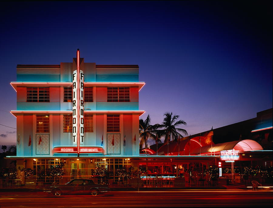 Usa,florida,miami,art Deco Historic Photograph by Siegfried Layda