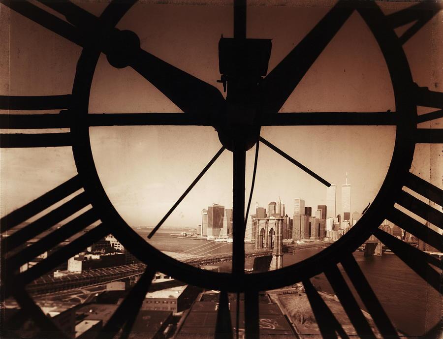 Usa,new York City, Brooklyn Bridge And Photograph by Russell Kaye/sandra-lee Phipps