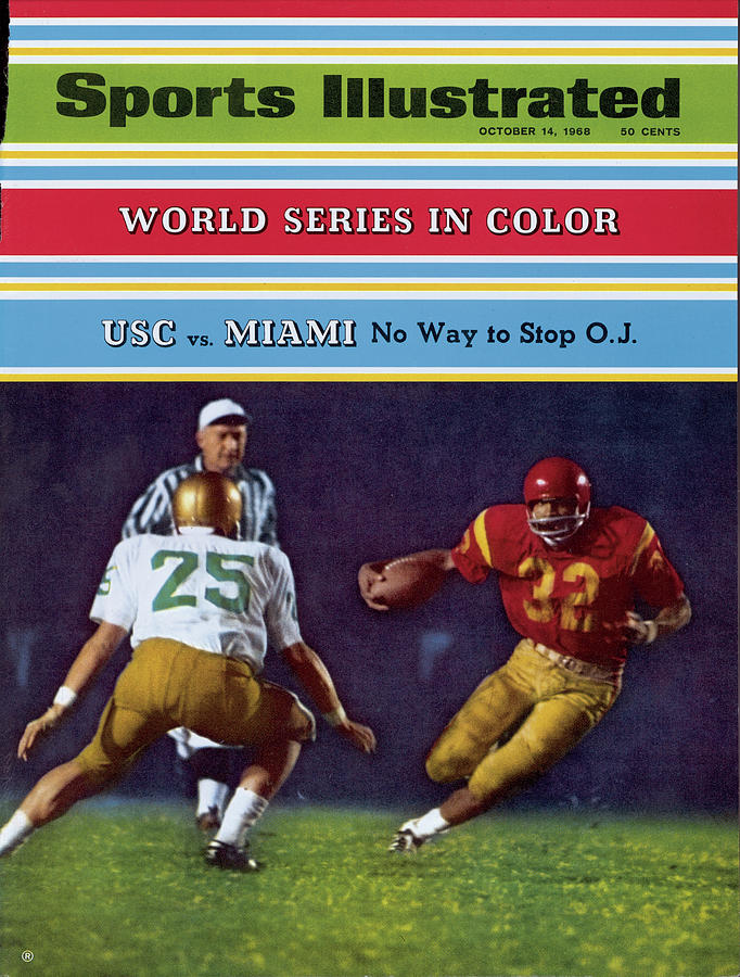 Usc O.j. Simpson Sports Illustrated Cover Photograph by Sports Illustrated
