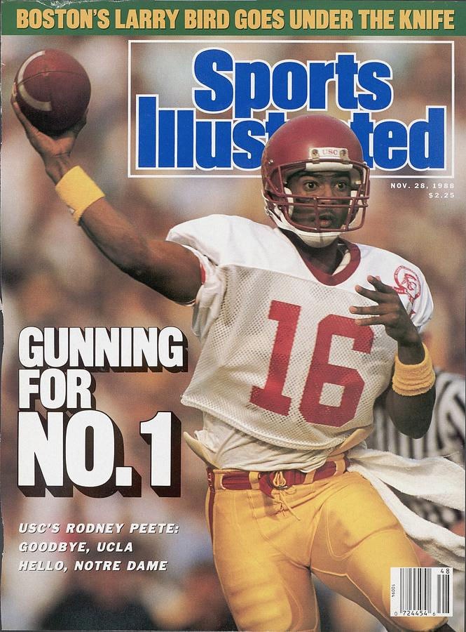 Usc Qb Rodney Peete... Sports Illustrated Cover Photograph by Sports Illustrated
