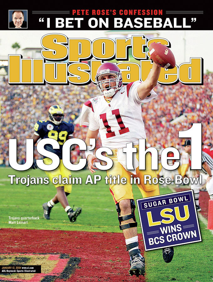 Uscs The 1 Trojans Claim Ap Title In Rose Bowl Sports Illustrated Cover Photograph by Sports Illustrated