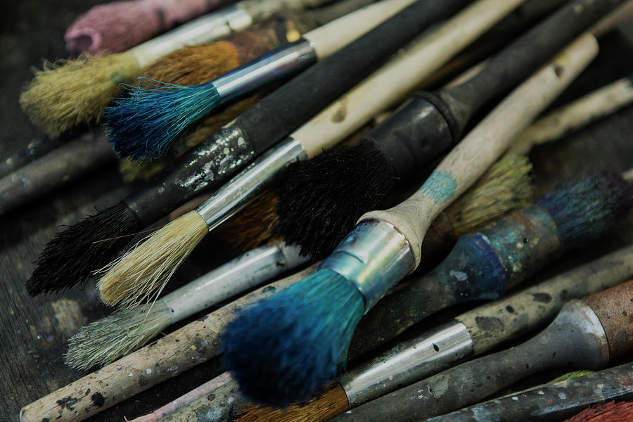 Used Paint Brushes by Iris Richardson