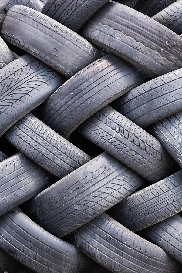 Used Tires Photograph by Zoran Milich