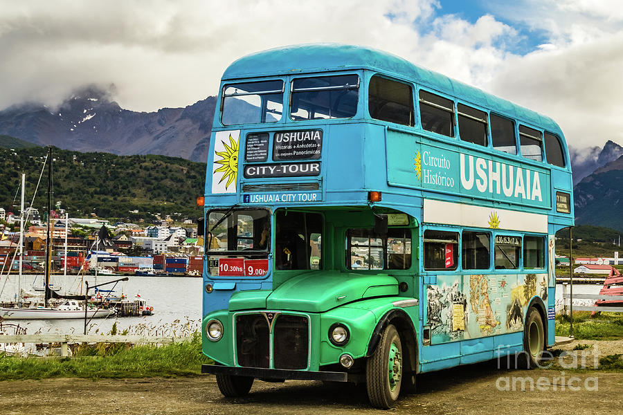 Ushuaia City Tour Bus, Argentina by Lyl Dil Creations